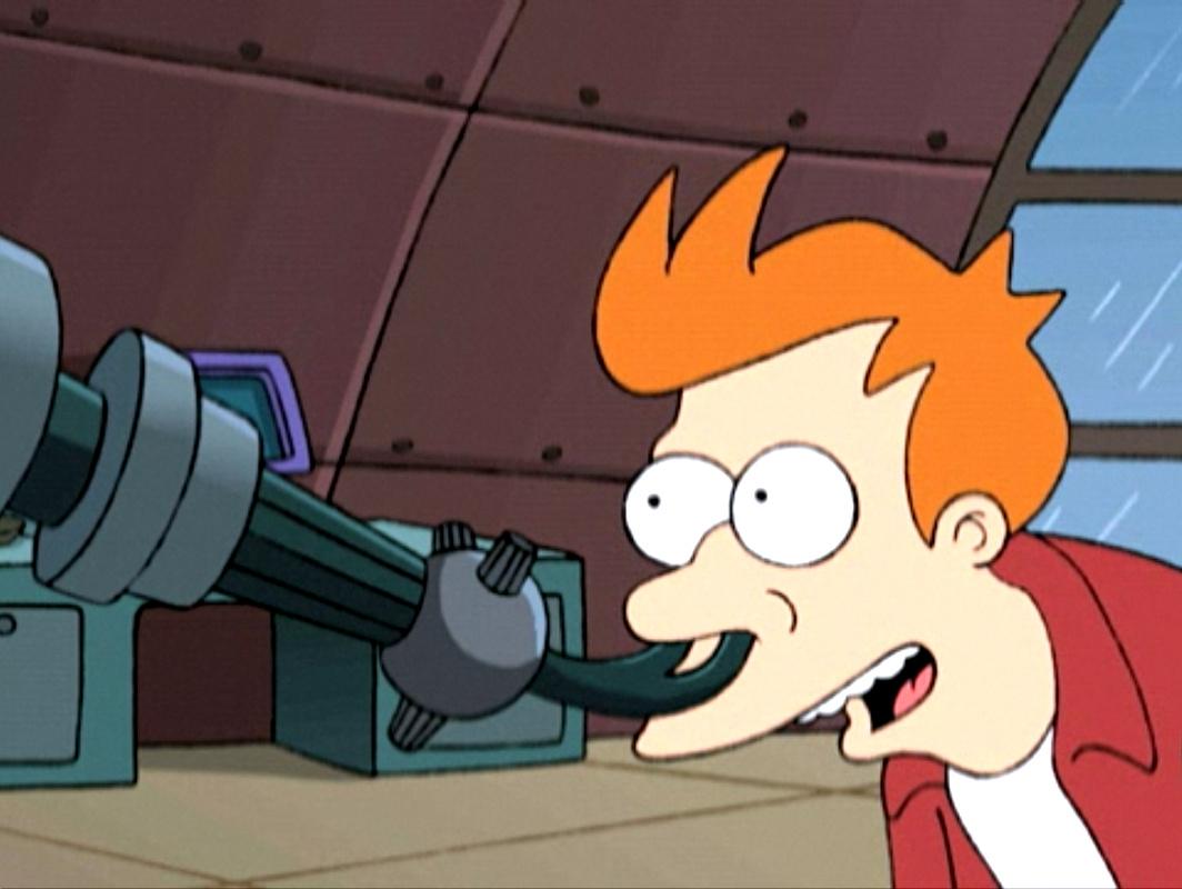 O cheiroscópio do Futurama. Fonte: Comedy Central