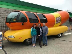 My family next to the Wienermobile