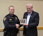 Officer Chase Rains with Alderman Bob Simmons (City of Branson photo)