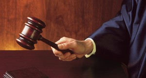gavel and judge