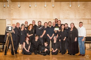 """The cast and creators of """"Shepherd the Musical"""" pose for a photo prior to the premiere performances March 11 and 12. Photo credit: TGC Photography"""