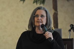 Branson Mayor Karen Best delivering the State of the City Address on Friday
