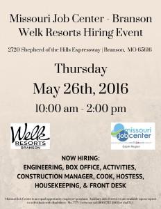 2016 05-26 Welk Resort Branson Flyer
