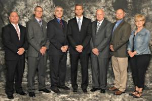 Reeds Spring R-IV Board of Education members Rob Barringer, Matt Greenwalt, Earl Johnson, Owen Allphin, Al Morton, Rick Porter, Anne Coleman.