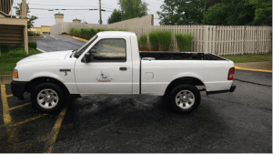 The stolen truck is identical to this vehicle, except it has a number 1 instead of a 3 on the right front fender. (submitted photo)