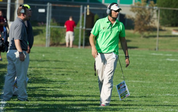 Greenwich High School head coach John Marinelli will experience his first Homecoming at GHS and will also battle his father's New Canaan squad during Saturday afternoon's game. (John Ferris Robben photo)