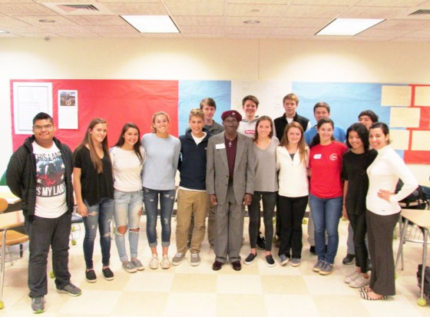 Students from Greenwich High School's Help For The Homeless Club met with representatives from Pacific House emergency homeless shelter.  Students (in alphabetical order):  Dylan Boyd, Jackson Fraupton, Jessica Freiheit, Andrew Fuller, Zach Gould, Jade Hoyen, Ella Jomo, Ellie Lufkin, Kate Marquez, Catherine McEvoy, Charlie Povinelli, Vayle Povinelli, Mark Sunoo, Michael Villanueva, Daniel Wurst, with Chris from Pacific House (center) and GHS teacher Jessica Keller (far right).