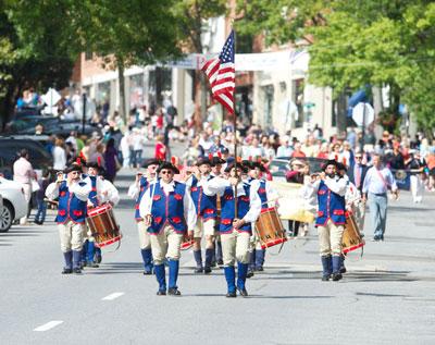 Greenwich 375th anniversary parade.