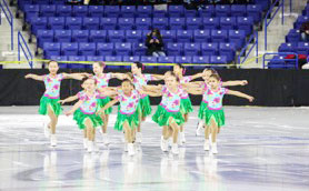 The beginner line of the Skyliners Synchronized Skating Team. (contributed photo)