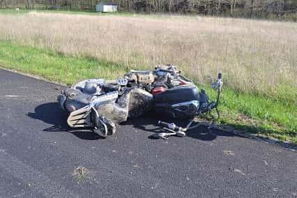 Motorcycle Crash On Bloomington Road