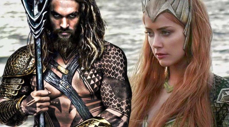 Jason Momoa y Amber Heard en 'Aquaman'