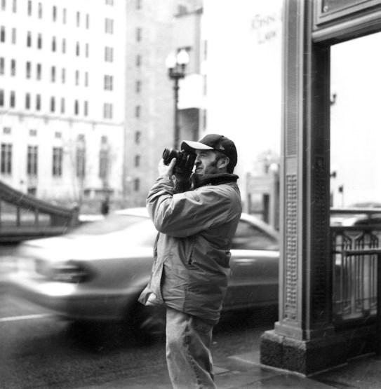 Rolleiflex T; Joe in Chicago.