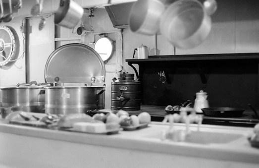 LST 393's Kitchen