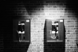 Telephones at the Navy Pier, Chicago.