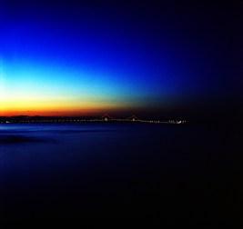 """Lost in the moment"" - Sunset at Mackinac Bridge, Michigan"
