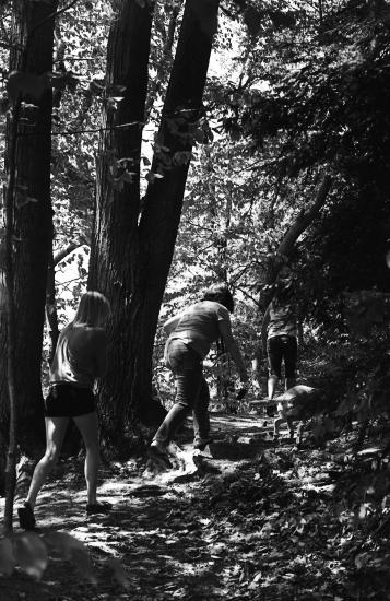 Hiking at Hoffmaster