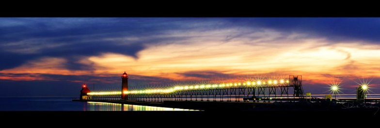 Grand Haven Pier Panorama