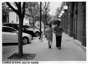 Couple in Rain, South Haven, Kodak Retina IIIC
