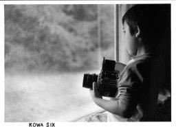 Looking out the window with a Kowa Six. Kodak Retina IIIC