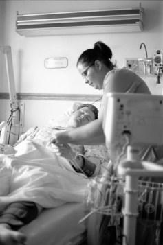 Nurse checking up on him.