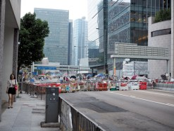 Blockade on Connaught Road
