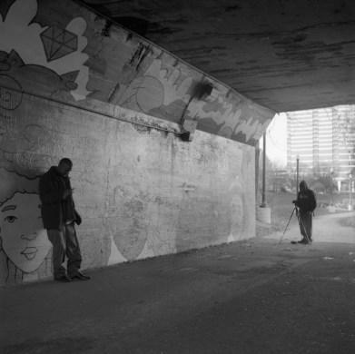 Local Artist James Scott shooting a music video