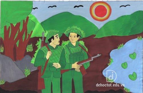 Hình ảnh đầu súng trăng treo trong bài thơ Đồng chí