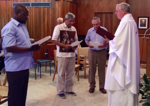 Fr. Gustave (Montréal), Fr. Aegi (Toronto)and Fr. Paul (Ottawa) are installed as the superiors of their communities.