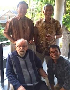 Fr. Aegi, Fr. Yuliwan, Fr. Rein and Fr. Anthony
