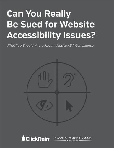 Accessibility White Paper book cover