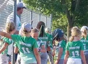 Alligator softball team sponsored by Davenport Evans