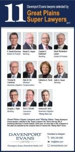 Davenport Evans Super Lawyers 2017