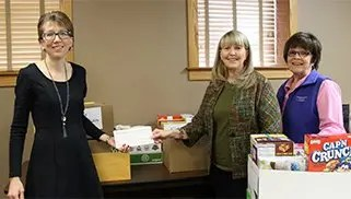 Food Drive Collects 230 Pounds of Food Plus Funds