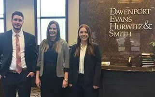 Davenport Evans Welcomes 2019 Summer Associates Goetzinger, Rensink, Frericks