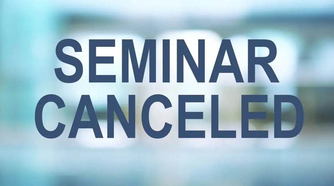 Seminar Canceled 2020
