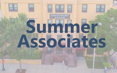 Davenport Evans Welcomes 2020 Summer Associates Frericks, Mabee, Schartz, and Vukovich