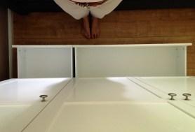 Zwei Schubladen ergänzen den großzügigen Stauraum.