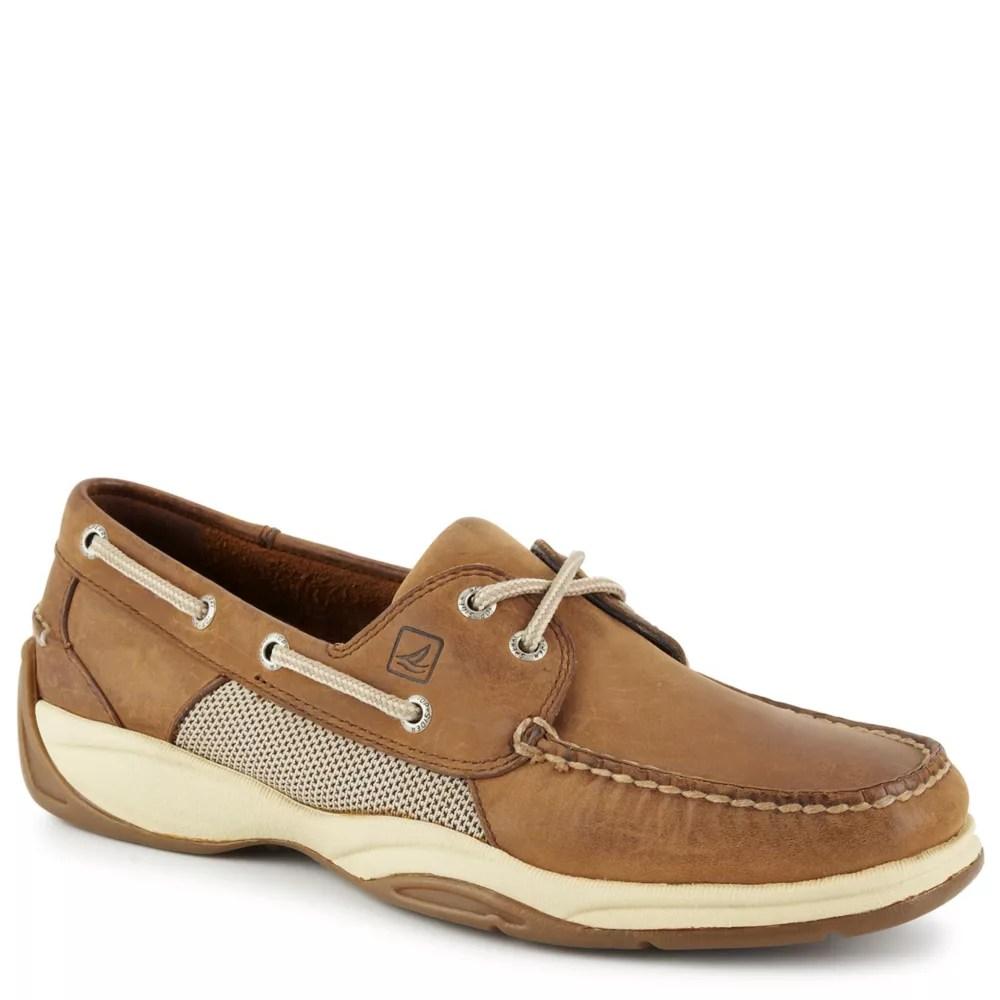 tan sperry mens intrepid boat shoe