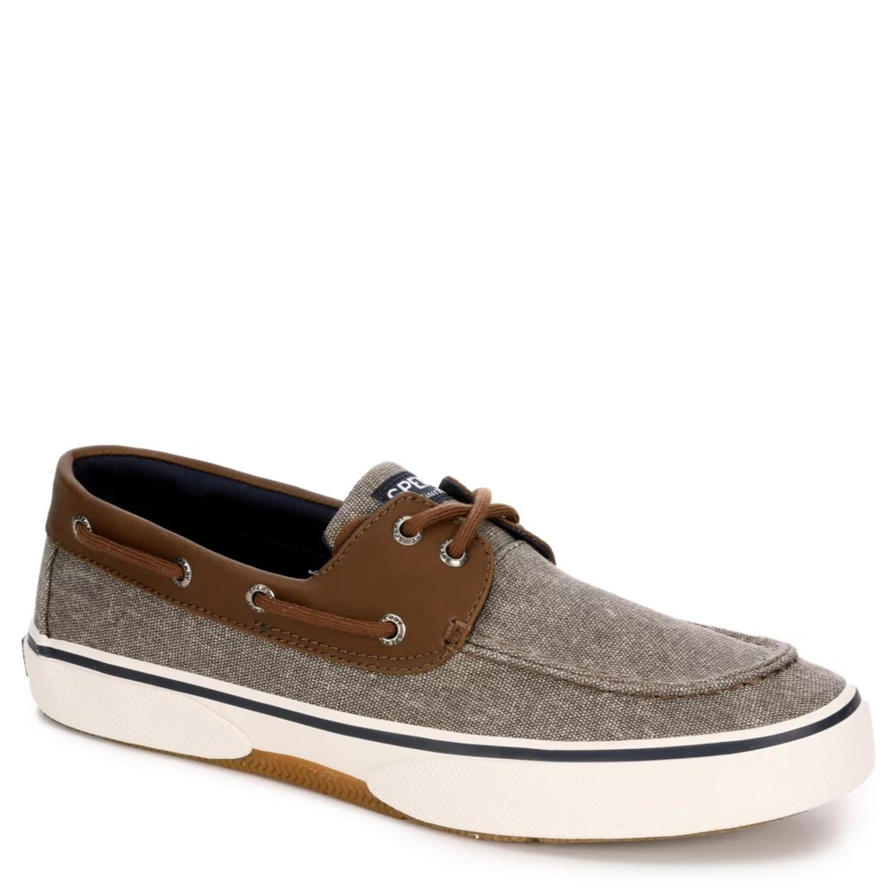 brown sperry mens haylyard 2 eye boat shoe
