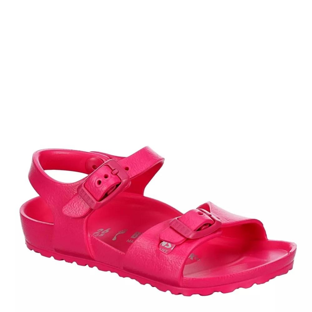 pink birkenstock girls infant rio footbed sandal