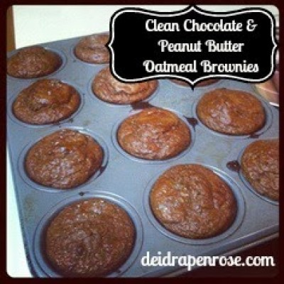 Deidra Penrose, Elite Beach Body Coach, Chocolate Peanut Butter Oatmeal Muffins, clean eating, healthy muffin recipe, weight loss, healthy meal plans, beach body
