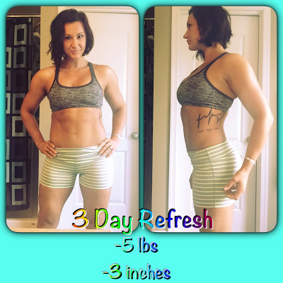 Deidra Penrose, 3 day refresh results, top beachbody coach harrisburg pa, top beachbody coach chambersburg, clean eating tips, clean eating meals, 3 day cleanse idea, tips to get off plateau, fitness accountability, beachbody fitness challenge, healthy lifestyle, Shakeology results, NPC figure competitor and coach, top online fitness coach PA, fitness motivation, weight loss journey,  lose 5 lbs in 3 days