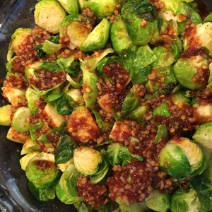 Deidra Penrose, healthy holiday recipes, healthy holiday side dish recipes, clean eating recipes, chili sauce, garlic recipes, brussel sprout recipes, bragg liquid aminos, sweet chili brussel sprouts, healthy mom  tips, healthy christmas tips, spicy side dish recipes