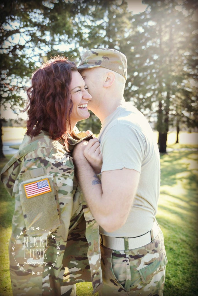 Military Engagement pictures, Deidra Penrose, online fitness coach PA, 6 week wedding countdown, wedding prep in 6 weeks, sweating for the wedding, getting fit for wedding, top beachbody coach PA, work from home mom, healthy mom tips, couples fitness journey