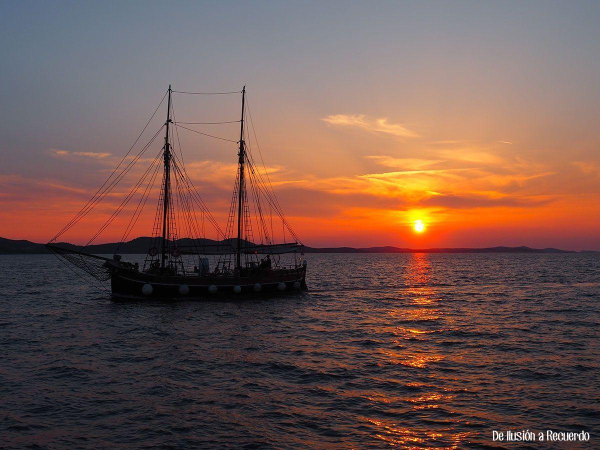 Atardecer en Zadar, Croacia