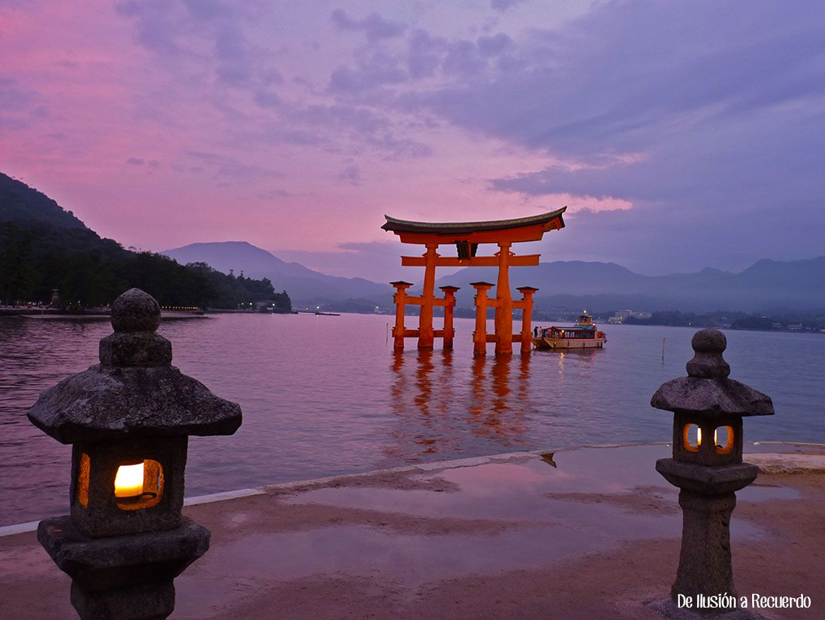 Atardecer en Miyajima, Japón