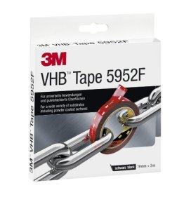 3M VHB 5952F doppelseitiges Hochleistungsklebeband, 19 mm x 3 m, schwarz 5952193 -