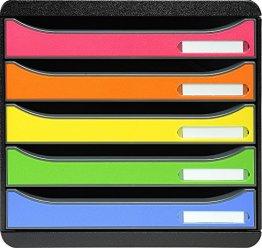 Exacompta 309798D Ablagebox, Big-Box Plus Classic, harlekin -