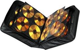 Hama CD Tasche für 304 CDs/DVDs/Blu-rays, mit Mikrofaser Pflegetuch, Mappe zur Aufbewahrung, schwarz -