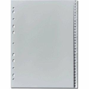 Herlitz Register A4 1-31 Kunststoff PP grau -